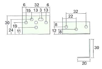 アイワ スライドレール用直立ブラケット AP-1200C 使用例