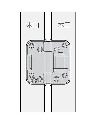 アトム間仕切丁番(HD-37、HD-38)取付例