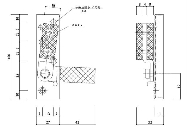 指詰防止戸当り SD-511 サイズ
